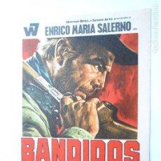 Cine: PROGRAMA DE CINE - BANDIDOS - CON PUBLICIDAD - NUEVO - FOTO DORSO -. Lote 102054331