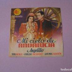 Cine: FOLLETO DE MANO. CINE. MI CIELO DE ANDALUCIA. . Lote 102103983
