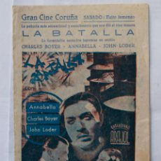 Cine: RARISIMO LA BATALLA CON ANNABELLA EXCLUSIVAS ARAJOL LOCAL?. Lote 102369679