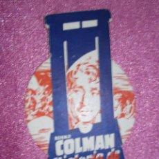 Cine: HISTORIA DE DOS CIUDADES R .COLMAN PROGRAMA DE CINE .. Lote 102373855