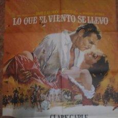 Cine: CARTELERA ORIGINAL DE 70X100 LO QUE EL VIENTO SE LLEVO. Lote 102380227