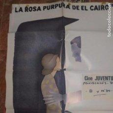 Cine: CARTELERA ORIGINAL DE 70X100LO ROSA PURPURA DEL CAIRO. Lote 102380459