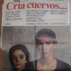 Cine: CARTELERA ORIGINAL DE 70X100 CRIA CUERVOS. Lote 102380683
