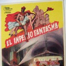 Cine: FOLLETO DE MANO EL IMPERIO FANTASMA SIN PUBLICIDAD AL DORSO 1ª JORNADA. Lote 102489683