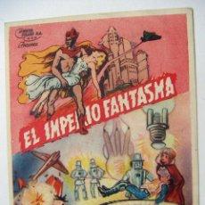 Cine: FOLLETO DE MANO EL IMPERIO FANTASMA SIN PUBLICIDAD AL DORSO 2ª JORNADA. Lote 102490199