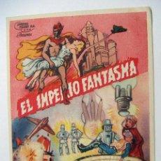 Cine: FOLLETO DE MANO EL IMPERIO FANTASMA SIN PUBLICIDAD AL DORSO 2ª JORNADA. Lote 102490271