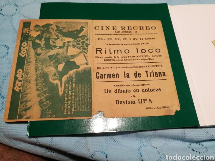 Cine: Programa de cine doble grande. Ritmo loco. Publicidad del cine Recreo de Barcelona - Foto 2 - 102541956
