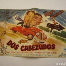 Cine: DOS CABEZUDOS, CON BUD ABBOTT Y LOU COSTELLO. Lote 102580187