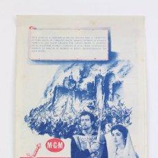 Cine: PROGRAMA DE CINE DOBLE - IVANHOE / ROBERT TAYLOR, ELISABETH TAYLOR - METRO GOLDWYN MAYER - AÑOS 1982. Lote 102702999