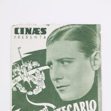 Cine: PROGRAMA DE CINE DOBLE - PARIS - MONTECARLO / HENRY GARAT - CINAES - AÑO 1934. Lote 102703967