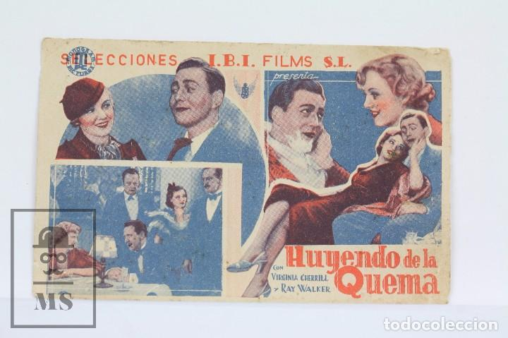 PROGRAMA DE CINE SIMPLE - HUYENDA DE LA QUEMA / VIRGINIA CHERRILL, RAY WALKER - I.B.I FILMS - 1935 (Cine - Folletos de Mano - Musicales)