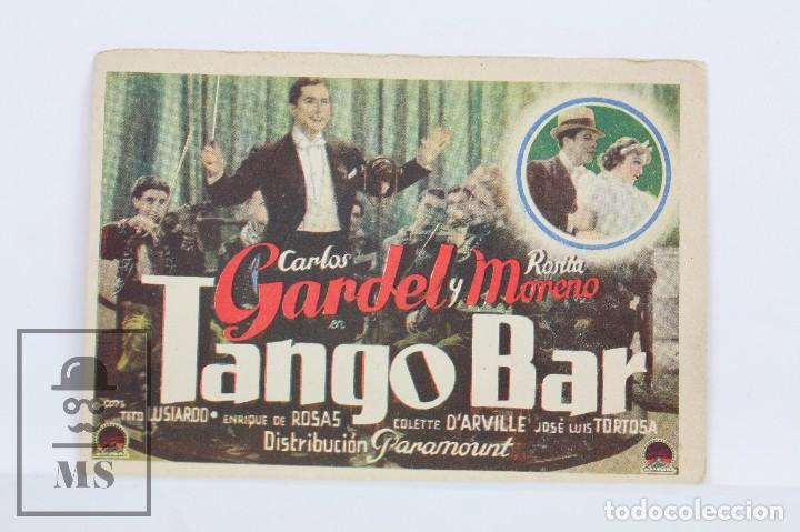 PROGRAMA DE CINE SIMPLE - TANGO BAR / CARLOS GARDEL, ROSITA MORENO - PARAMOUNT- 1936 (Cine - Folletos de Mano - Musicales)