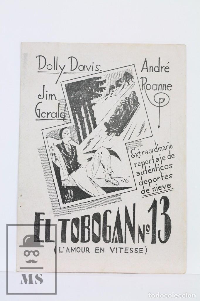 PROGRAMA DE CINE DOBLE - EL TOBOGAN Nº 13 / DOLLY DAVIS, JIM GERALD - EQUITABLE FILMS - 1935 (Cine - Folletos de Mano - Documentales)