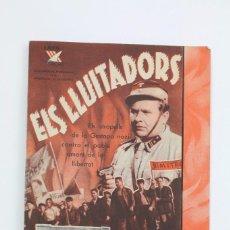 Cine: PROGRAMA DE CINE DOBLE / CATALAN - ELS LLUITADORS - LAYA FILMS - AÑO 1938. Lote 102712751
