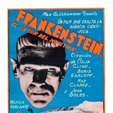 "Cine: ""EL DOCTOR FRANKENSTEIN"" (""FRANKENSTEIN"", 1931) DE JAMES WHALE. CON BORIS KARLOFF. Lote 102720691"
