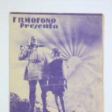Cine: PROGRAMA DE CINE DOBLE - GUILLERMO TELL - SELECCIONES FILMÓFONO, AÑO 1935. Lote 102772791