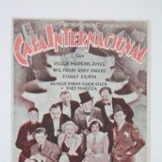 Cine: PROGRAMA DE CINE DOBLE - CASA INTERNACIONAL - PARAMOUNT FILMS, AÑO 1935. Lote 102774951