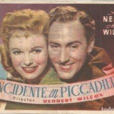 Cine: PROGRAMA CINE - INCIDENTE EN PICCADILLY - ANNA NEAGLE - MERIDIANA 1949. Lote 102838363