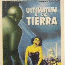 Cine: ULTIMATUM A LA TIERRA. Lote 103138803