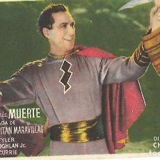 Cine: LAS LENTES DE LA MUERTE (EL CAPITAN MARAVILLAS) - AÑO 1944. Lote 103140219