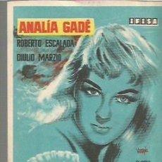 Foglietti di film di film antichi di cinema: ANALIA GADE PROGRAMA DE MANO DE LA PELICULA AYER FUE PRIMAVERA, IFISA. Lote 103166411