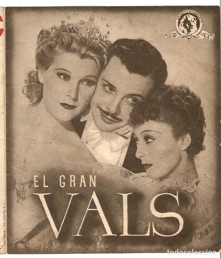 EL GRAN VALS - LUISE RAINER, FERNAND GRAVET, MILIZA KORJUS - DIRECTOR JULIEN DUVIVIER - MGM (Cine - Folletos de Mano - Musicales)