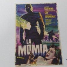 Cine: ANTIGUO LOTE DE PROGRAMA DE MANO CINE ORIGINALES AL 100% LA MOMIA. Lote 102942823