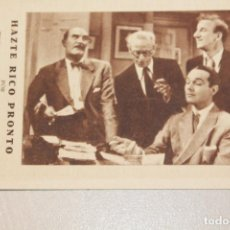 Cine: HÁZTE RICO PRONTO. WILLIAMS HAINES, LEILA HYAMS, JIMMY DURANTE, ERNEST TORRENCE. INFORMACIÓN, FOTOS.. Lote 103533931
