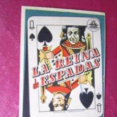 Cine: LA REINA DE ESPADAS PROGRAMA DE CINE EXCELENTE ESTADO C2. Lote 103534135