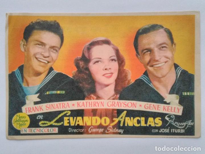 PROGRAMA MANO ORIGINAL, LEVANDO ANCLAS. FRANK SINATRA, KATHRYN GRAYSON, GENNE KELLY, PUBLICIDAD-P17 (Cine - Folletos de Mano - Musicales)