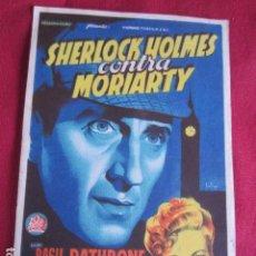Cine: SHERLOCH HOLMES CONTRA MORIARTY. Lote 103573251