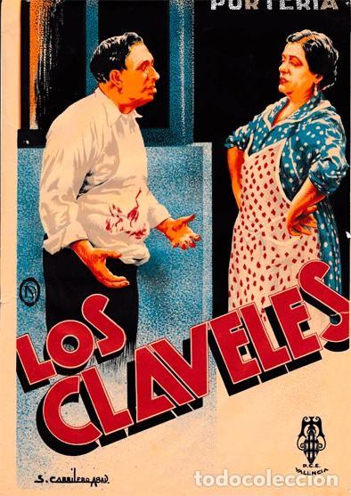 """""""LOS CLAVELES"""" (1936) DE SANTIAGO ONTAÑÓN. CON MARÍA ARIAS, MARÍA AMPARO BOSCH (Cine - Folletos de Mano - Musicales)"""