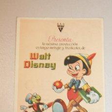 Cine: PINOCHO. WALT DISNEY. INFORMACIÓN FOTOS.. Lote 103635171