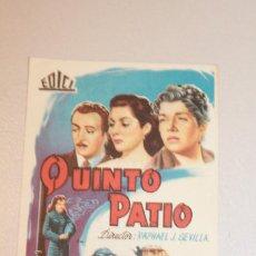 Cine: QUINTO PATIO. EMILIO TUERO, EMILIA GUIU CARLOS L. MOCTEZUMA. INFORMACIÓN FOTOS.. Lote 103665067