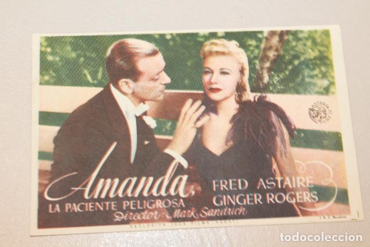 AMANDA. FRED ASTAIRE Y GINGER ROGERS. INFORMACIÓN FOTOS. (Cine - Folletos de Mano - Musicales)