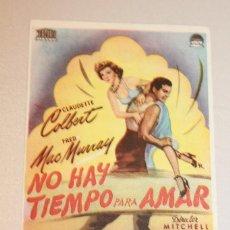 Cine: NO HAY TIEMPO PARA AMAR. CLAUDETTE COLBERT Y FRED MCMURRAY. INFORMACIÓN FOTOS.. Lote 103666323