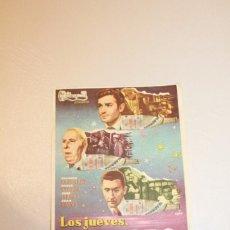 Cine: LOS JUEVES, MILAGRO. RICHARD BASEHART, PAOLO STOPPA, JOSÉ GISBERT Y JUAN CLAVO. INFORMACIÓN FOTOS.. Lote 103670631