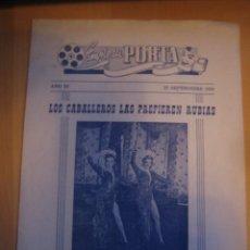Cine: LOS CABALLEROS LAS PREFIEREN RUBIAS MARILYN MONROE FOLLETO DE MANO LOCAL ORIGINAL ESTRENO . Lote 103701755