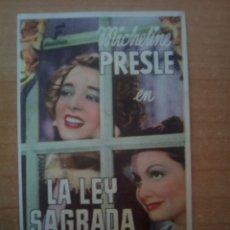 Cine: LA LEY SAGRADA. Lote 109548198
