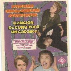 Cine: CANCION DE CUNA PARA UN CADAVER (SIN PUBLICIDAD). Lote 103835091