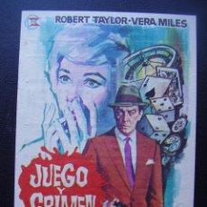 Cine: JUEGO Y CRIMEN, ROBERT TAYLOR, CINE MODERNO, 1964. Lote 103853799