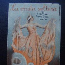 Cinema - LA VIUDA SOLTERA, SIM VIVA, CINE GADES, 1936 - 103855447