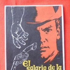 Cine: EL SALARIO DE LA VIOLENCIA, IMPECABLE SENCILLO,VAN HEFLIN TAB HUNTER, C/P T. APOLO CINEMA VALLS 1960. Lote 103857711