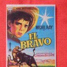 Cine: EL BRAVO, IMPECABLE SENCILLO SOLIGO 1960, MICHEL RAY, CON PUBLICIDAD TEATRO PEREDA. Lote 103863023