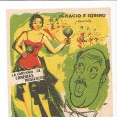 Cine: LA COMPAÑÍA DE COMEDIAS MUSICALES - JANO - CON TEXTO. Lote 103863159