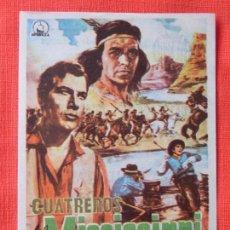 Cine: CUATREROS DEL MISSISSIPPI, IMPECABLE SENCILLO, HANS JÖRG FELMY, CON PUBLICIDAD AVENIDA 1965. Lote 103863475