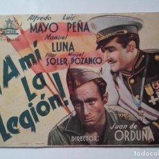 Cine: PROGRAMA DE MANO,FOLLETO CINE DOBLE ORIGINAL, A MI LA LEGION. Lote 103883051