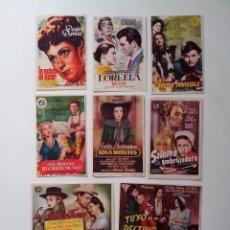 Cine: PROGRAMA DE MANO,FOLLETO CINE, 10 UNIDS, ORIGINALES Y EN BUEN ESTADO. Lote 103884831