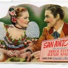 Cine: SAN ANTONIO, CON ERROL FLYNN. TROQUELADO. S/I.. Lote 103885987