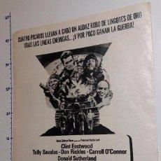 Cine: LOS VIOLENTOS DE KELLY CLINT EASTWOOD AÑO 1971.. Lote 101947075